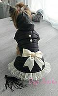 Куртка для собак чорная