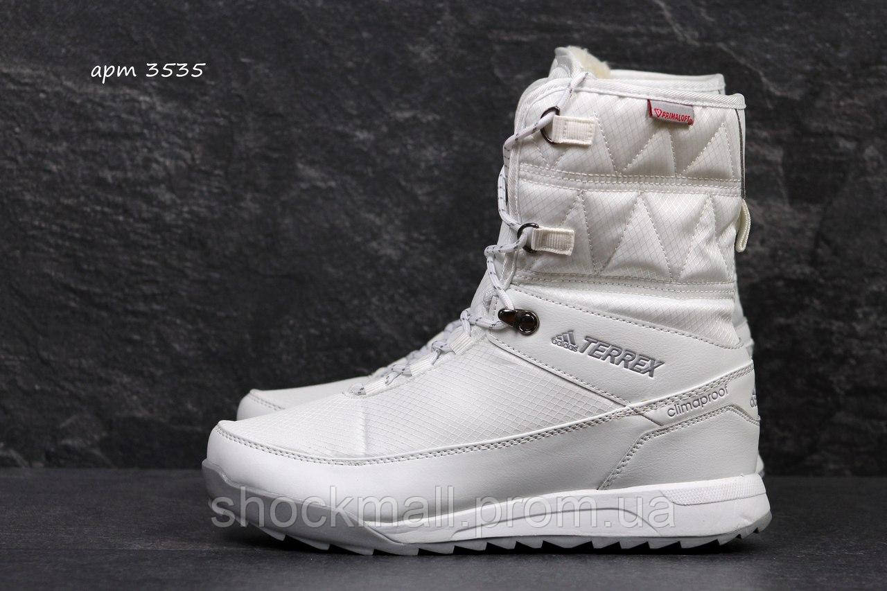 48c364bf7828 Зимние сапоги женские белые дутики Adidas Terrex - Интернет магазин  ShockMall в Киеве