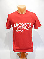Мужская футболка Lacoste реплика красная M-XXL