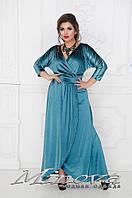 Велюровое вечернее платье большого размера (размеры 48-58)