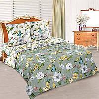 Полуторное постельное белье простыней на резинке 90/200/25  Жаклин, поплин 100%хлопок