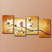"""Модульная картина """"Семь белых орхидей"""""""