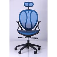 Кресло Lotus HR пластик черный/сетка синяя (AMF-ТМ)