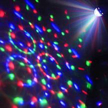Разноцветная светодиодная лампочка RGB на 3W E27 для праздничного освещения (дискотеки, вечеринки, бары), фото 3