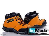 Модные ботинки мужские Lvovbaza Brown из нубука на шнуровке коричневые