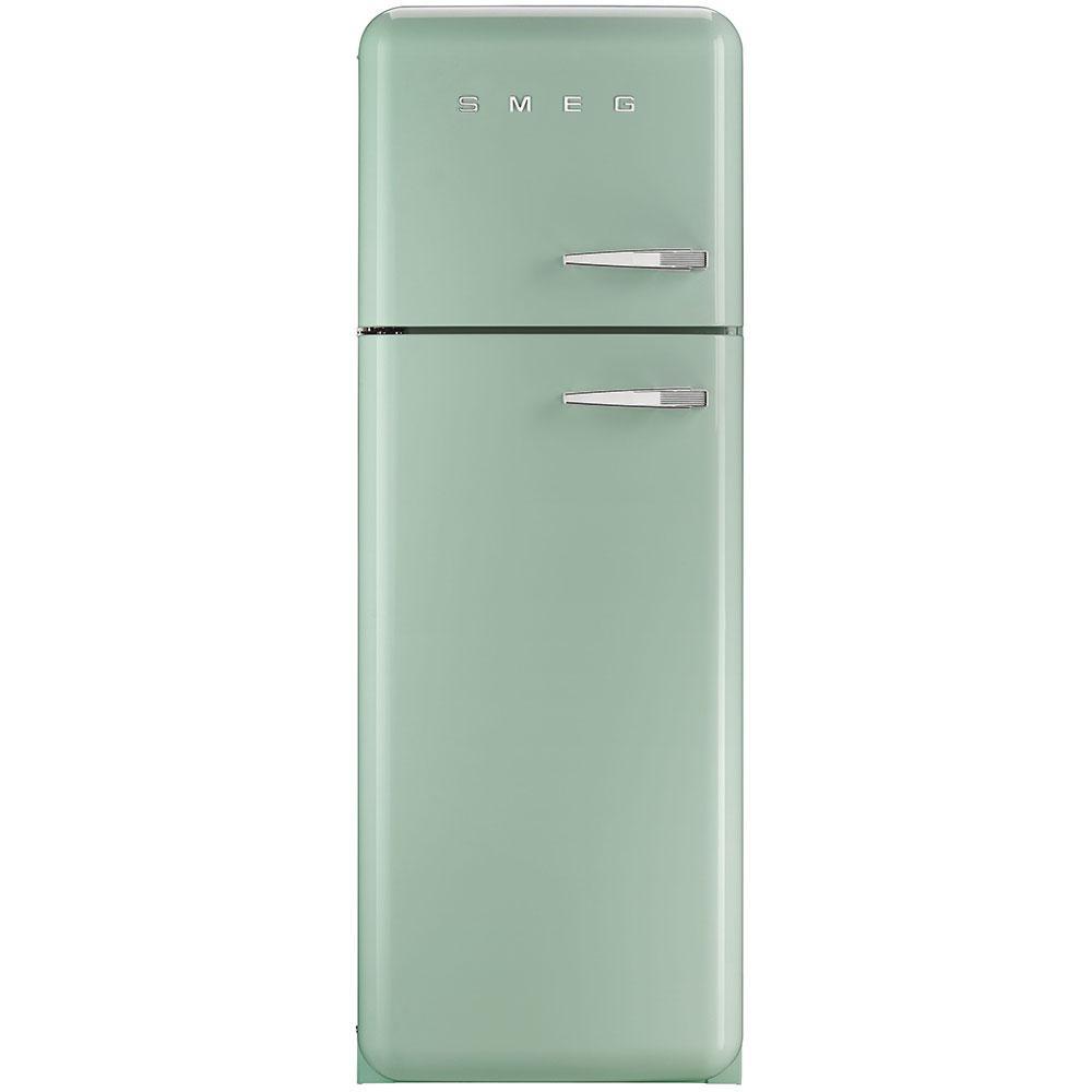 Отдельностоящий двухдверный холодильник, стиль 50-х годов Smeg FAB30LPG3 пастельно - зеленый (бирюзовый)