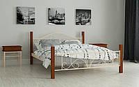 Кровать кованная с деревом Изабелла