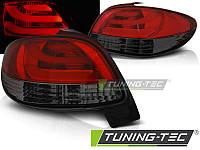 Фонари задние тюнинг оптика стопы Peugeot 206 красно-тонированные