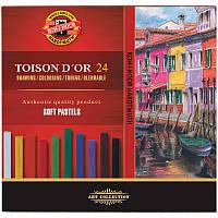 Сухие пастельные мелки Koh-I-Noor Toison Dor 24 цвета 23617