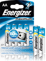 Батарейка Energizer LR6 Maximum 1*4 блистер