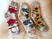Вязаные носки из ангоры, плотные