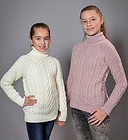 Детские вязанные свитера для девочек