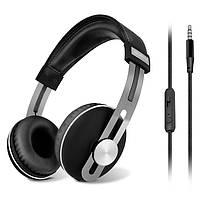 Гарнитура Sven AP-750MV Black, 2 x Mini jack (3.5 мм), накладные, микрофон на проводе, кабель 1.2 м