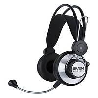 Гарнитура Sven AP-610MV Black, 2 x Mini jack (3.5 мм), накладные, микрофон, кабель 2.2 м