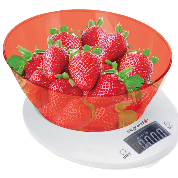 Весы кухонные 5кг ViLgrand VKS-533С_red