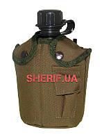 Фляга армейская 1 литр  с чехлом Coyote  Max Fuchs США 33213R