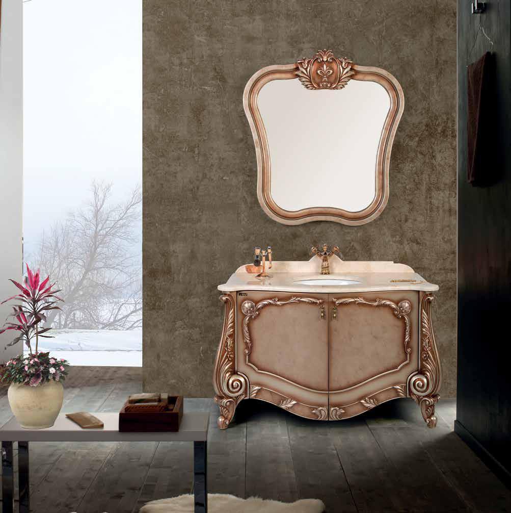 "Комплект мебели для ванной GOLD Ban-Yom ""Mihrimah 130"", 1300х600х850 мм"