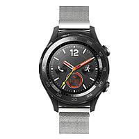 Миланский сетчатый ремешок Primo для часов Huawei Watch 2 - Silver