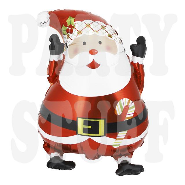 воздушный новогодний шар санта клаус