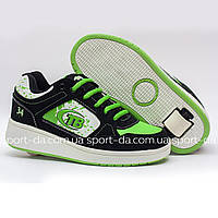 Кроссовки с роликом (heelys, хилисы) - Black Green