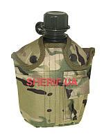 Фляга армейская 1 литр с чехлом Multicam Max Fuchs США 33223X