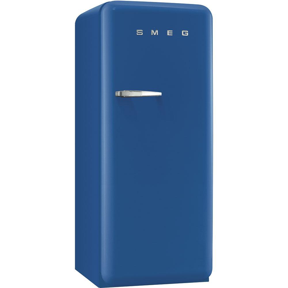 Отдельностоящий однодверный холодильник, стиль 50-х годов Smeg FAB28RBE3 синий