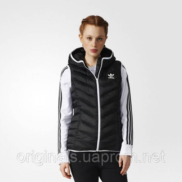 Женский утепленный жилет Adidas Slim Vest BS5044 - интернет-магазин Originals - Оригинальный Адидас, Рибок в Киеве