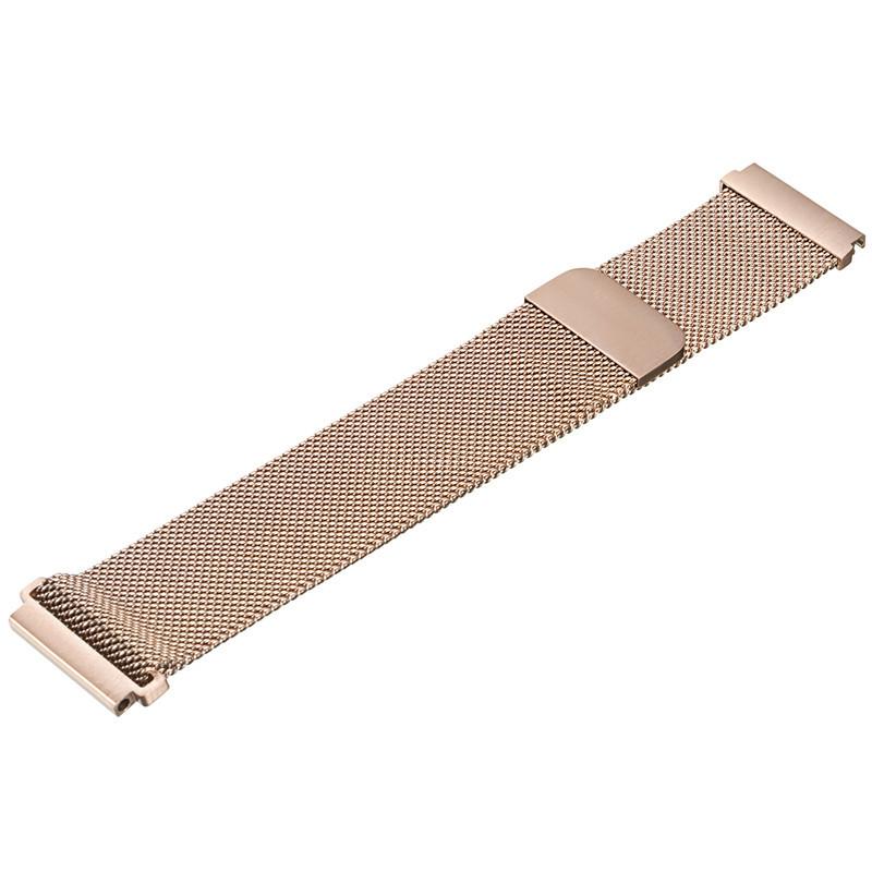 Міланський сітчастий ремінець Primo для годин Xiaomi Huami Amazfit Bip / Amazfit GTS - Rose Gold