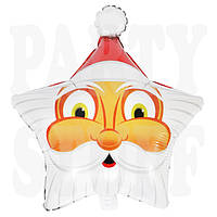 Фольгированный шарик Звезда Санта Клаус, 50 см