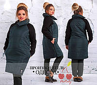 Демисезонное пальто застёжка сбоку плащевка на синтепоне рукав трехнить начёс размеры 42-44 46-48 50-52 54-56