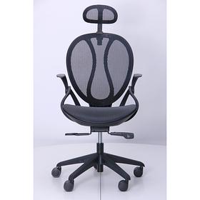 Кресло Lotus HR пластик черный/сетка черная (AMF-ТМ)