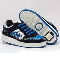 Кроссовки с роликом (heelys, хилисы) - BLACK Blue