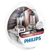 Автолампа Philips VisionPlus 12342 H4 12В 60/55W P43T-38 2 шт N40716398