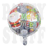 Фольгированный шар новогодний Санта Клаус, 44 см