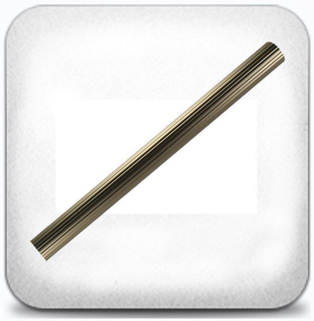 Труба рифлёная 16 мм 1,6 м, хром/мат