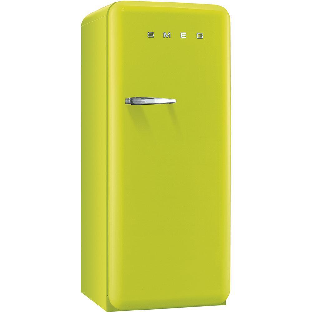 Отдельностоящий однодверный холодильник, стиль 50-х годов Smeg FAB28RLI3 лайм