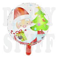Новогодний фольгированный шарик Санта Клаус, 44 см