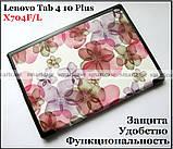 Гарний smart чохол книжка Lenovo Tab 4 10 Plus TB-X704F X704L еко PU колір Flowers, фото 6