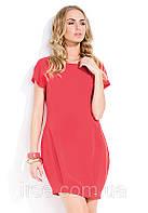 Летнее молодежное платье кораллового цвета с коротким рукавом. Модель Noa Zaps.