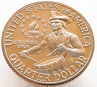 США 25 центов 1976 S - 200 лет независимости США  PROOF