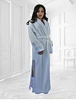 Набор длинный махровый халат с кружевами плюс махровые сапожки.
