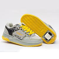 Кроссовки с роликом (heelys, хилисы) - STEP Yellow