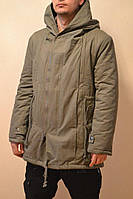 Стильная парка пальто с капюшоном