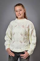 Детский вязанный свитер для девочки