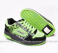 Кроссовки с роликом (heelys, хилисы)- STEP Green