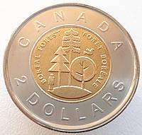 Канада 2 доллара 2011 - Тайга - половина суши Канады
