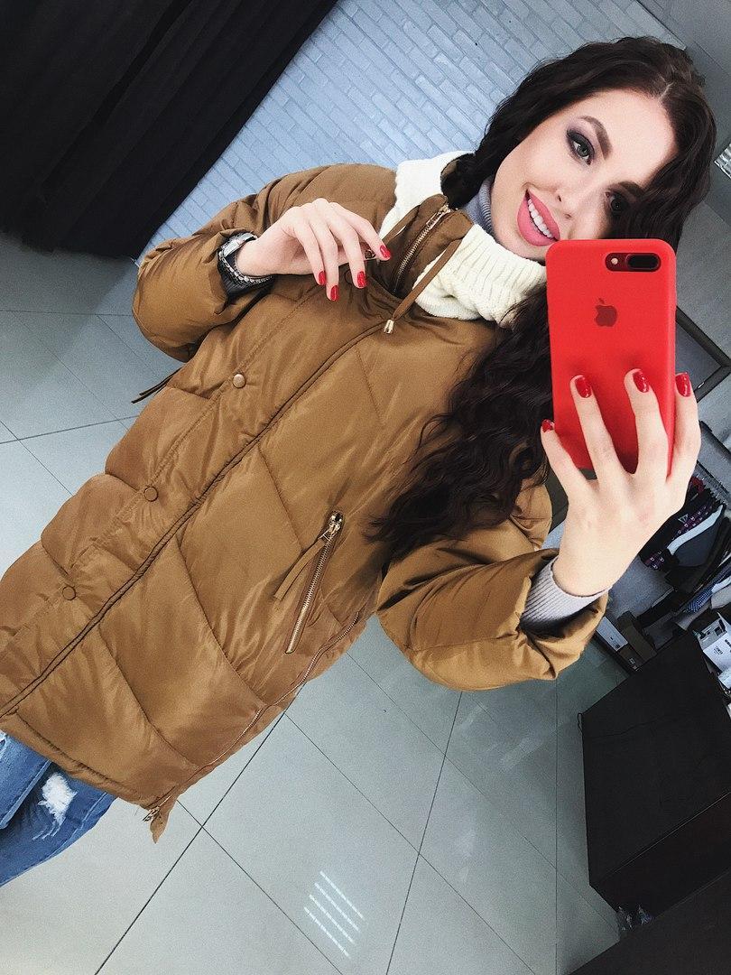 Куртка плащевка теплая на зиму