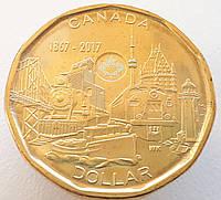 Канада 1 доллар 2017 - 150 лет Конфедерации Канада - Объединённая нация
