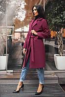 Пальто на подкладке турецкий кашемир с поясом и карманами