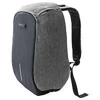 #151874 - Рюкзак для ноутбука 16' RS-525, Black/Grey, с защитой от проникновения и функцией подзарядки гаджетов, полиэстер, 400 x 265 x 25 мм